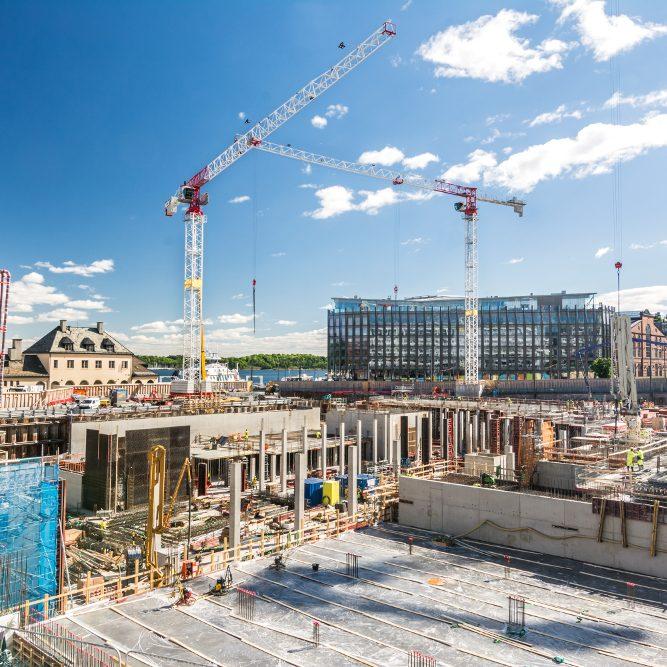 Kaupunkirakentaminen työmaa